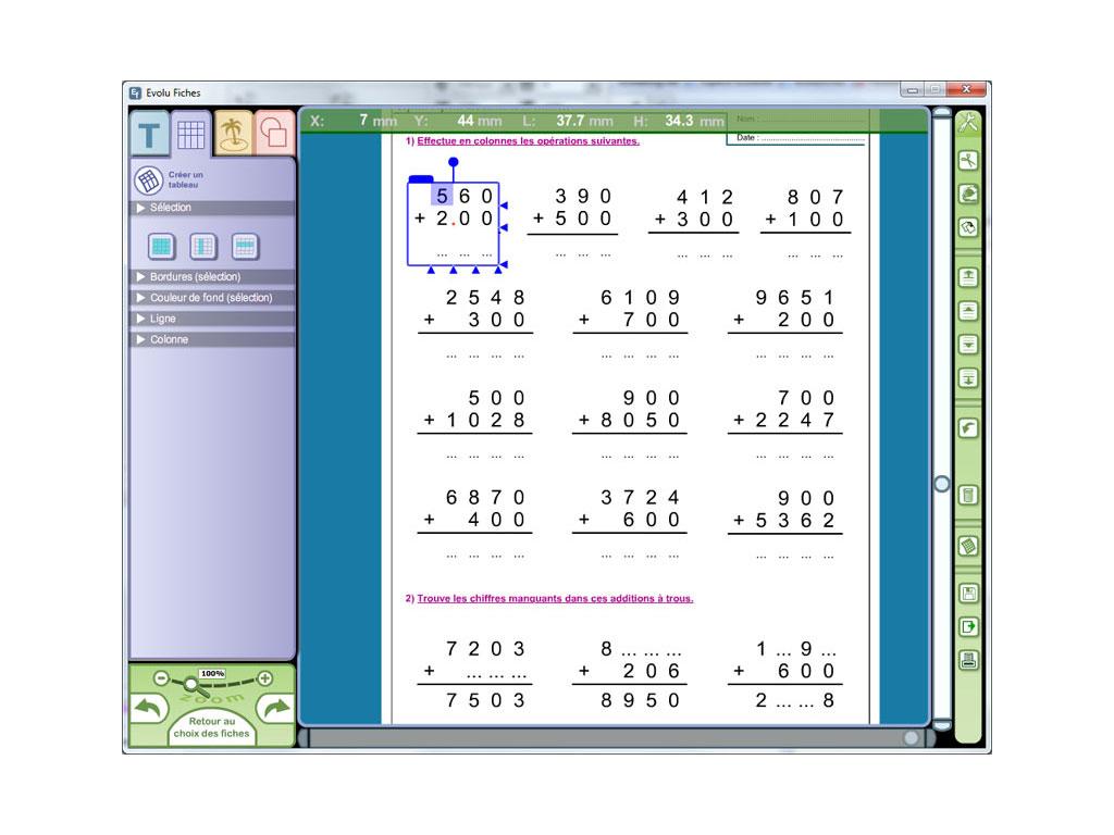 Evolu Fiches Numeration Et Operations Au Ce2