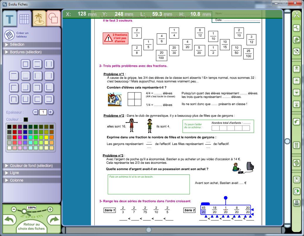Logiciel Numération, opérations et calcul au CM2