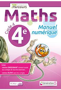 Manuel numérique iParcours Maths 4e (éd. 2016) pour l'enseignant