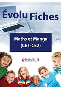 Evolu Fiches - Maths et Manga (CE1-CE2)