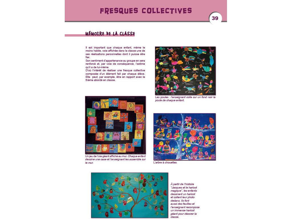 Activité fresque - Arts visuels en Maternelle et CP