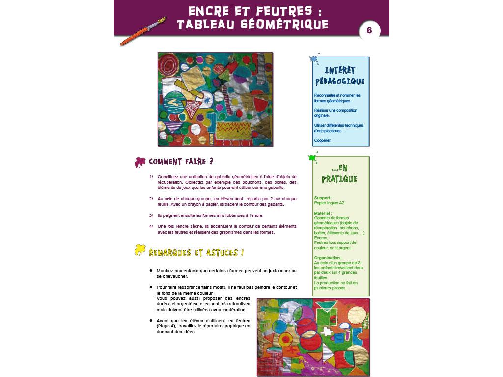 Activité encre et feutres - Arts visuels en Maternelle et CP