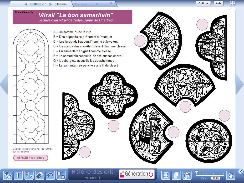 Logiciel séance vitrail - pack Histoire des Arts
