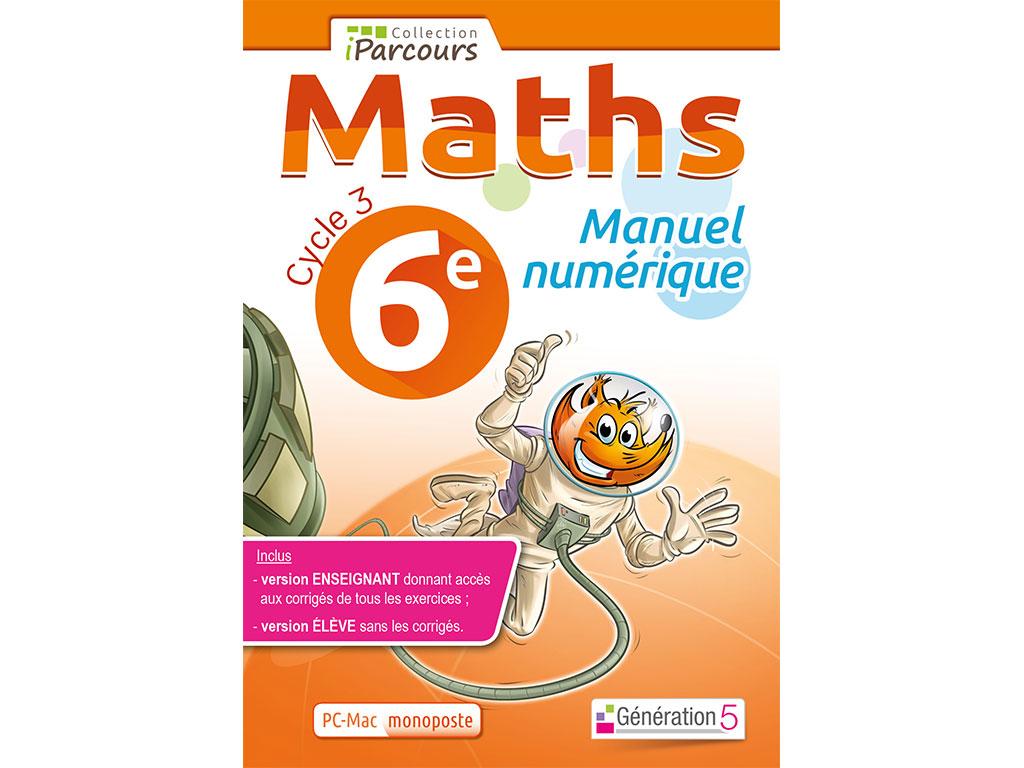 Manuel Numerique Iparcours Maths 6e Ed 2016 Pour L Enseignant