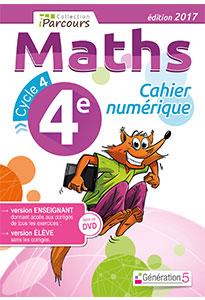 Cahier numérique iParcours Maths 4e (éd. 2017) pour l'enseignant
