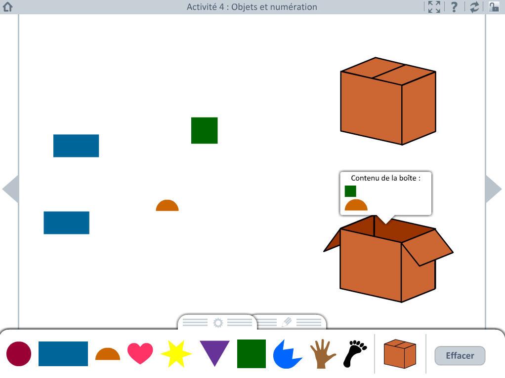 Activité école - objets et numération
