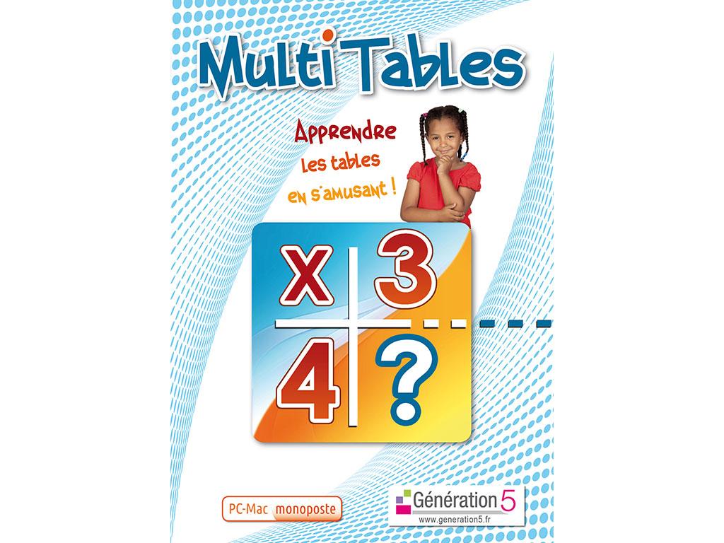 Logiciel de maths Multi tables