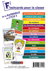 Flashcards pour la classe