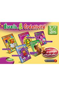 Eveil et créativité - Coffret de 5 cd-roms