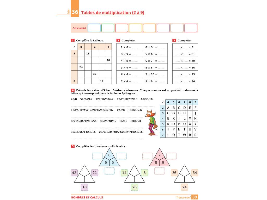 Tables de multiplication - iParcours maths CE2