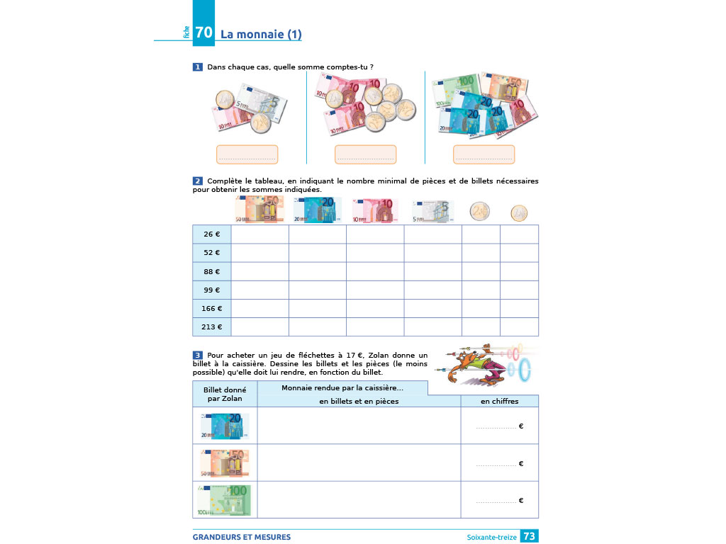 Exercice - iParcours maths CE2