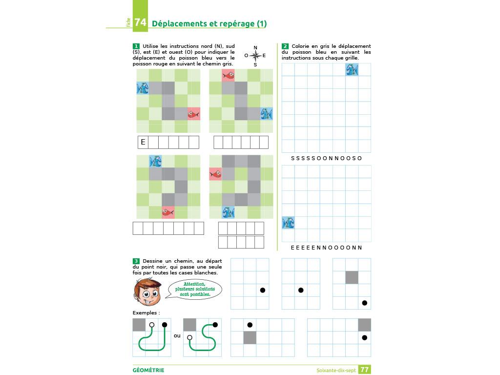 Déplacements et repérage - iParcours maths CE2