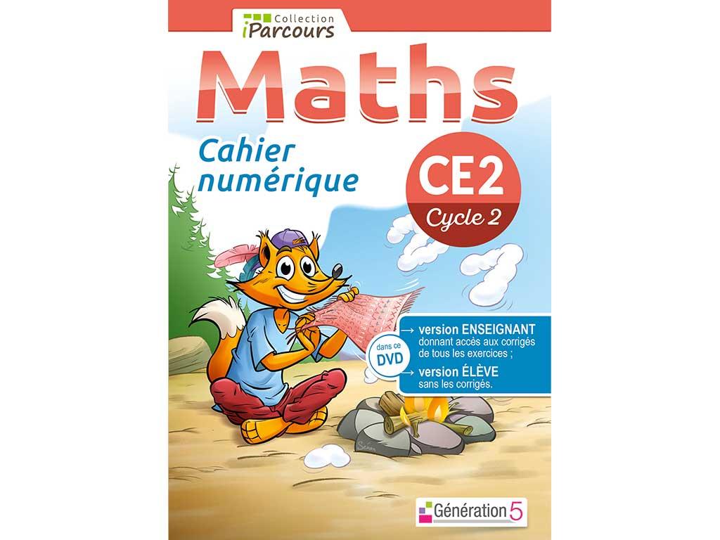Cahier numérique iParcours maths CE2