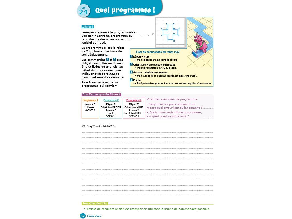 Jeux maths et programmation cycle 3 - P'tit Rusé iParcours