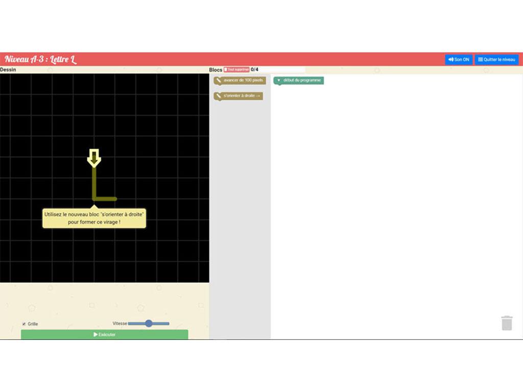 Initiation à l'algorithmique et programmation - logiciel Algoblocs +