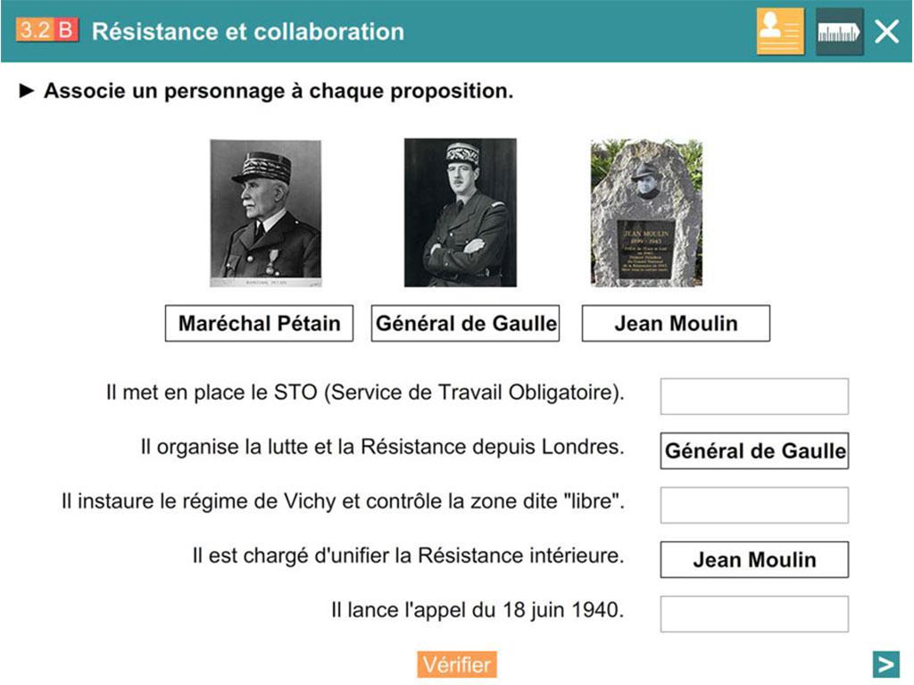 Logiciel - exercice interactif Explorer l'histoire CM2