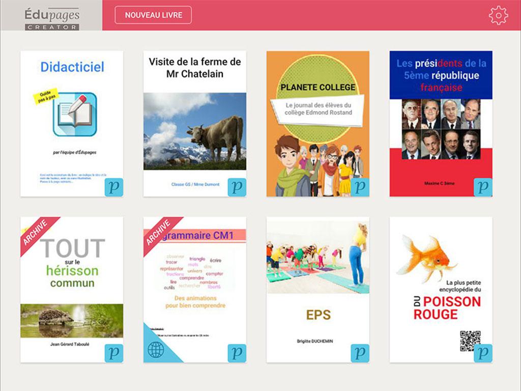 Création de livres numériques