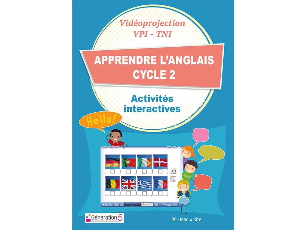 Logiciel Apprendre l'anglais Cycle 2  (Ressources TBI-Vidéoprojection)