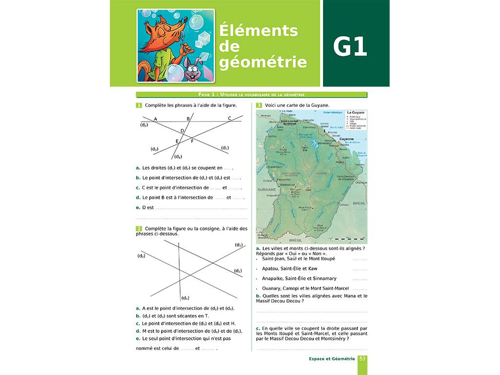 Utiliser le vocabulaire de la géométrie