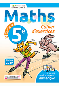 Cahier d'exercices iParcours MATHS 5e (éd. 2019)