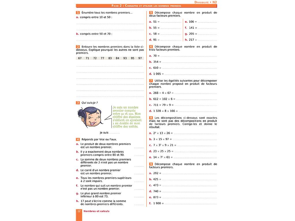 Connaitre et utiliser les nombres premiers