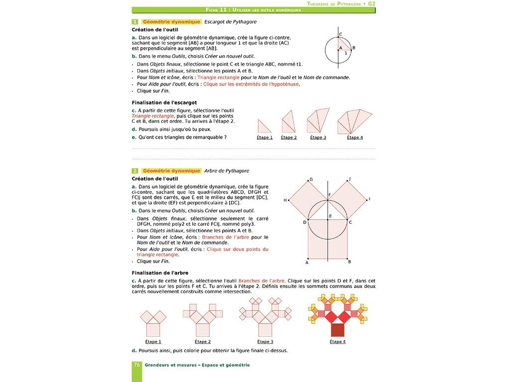 Utiliser les outils numériques en géométrie