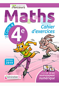 Cahier d'exercices iParcours MATHS 4e (éd. 2019)