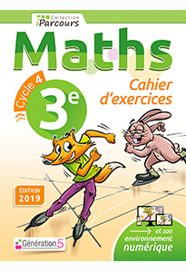 Cahier d'exercices iParcours MATHS 3e (éd. 2019)