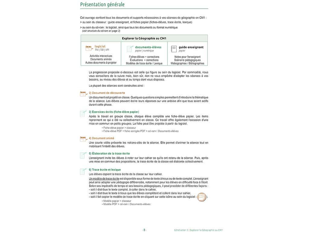 Présentation du dossier pédagogique Explorer la géographie CM1
