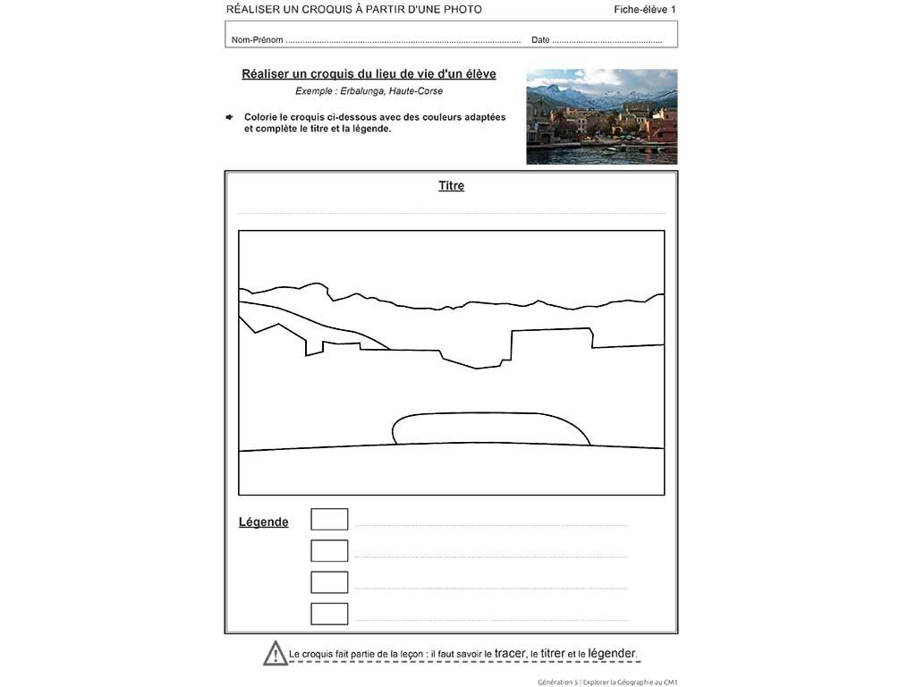 Exercices fiche élève Explorer la géographie CM1