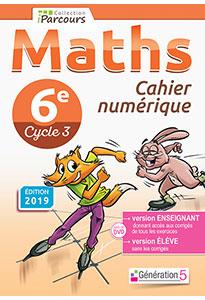 Cahier numérique iParcours Maths 6e (éd. 2019)