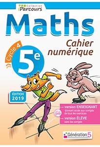 Cahier numérique iParcours Maths 5e (éd. 2019)