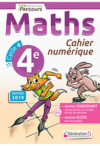 Cahier numérique iParcours Maths 4e (éd. 2019)