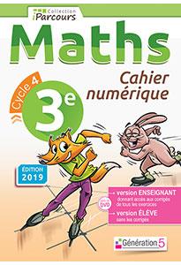 Cahier numérique iParcours Maths 3e (éd. 2019)