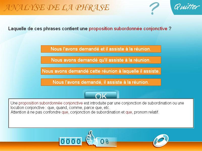 Logiciel exercice Français 5e