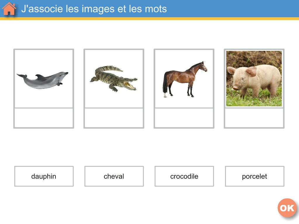 Les animaux - Logiciel de Vocabulaire en maternelle