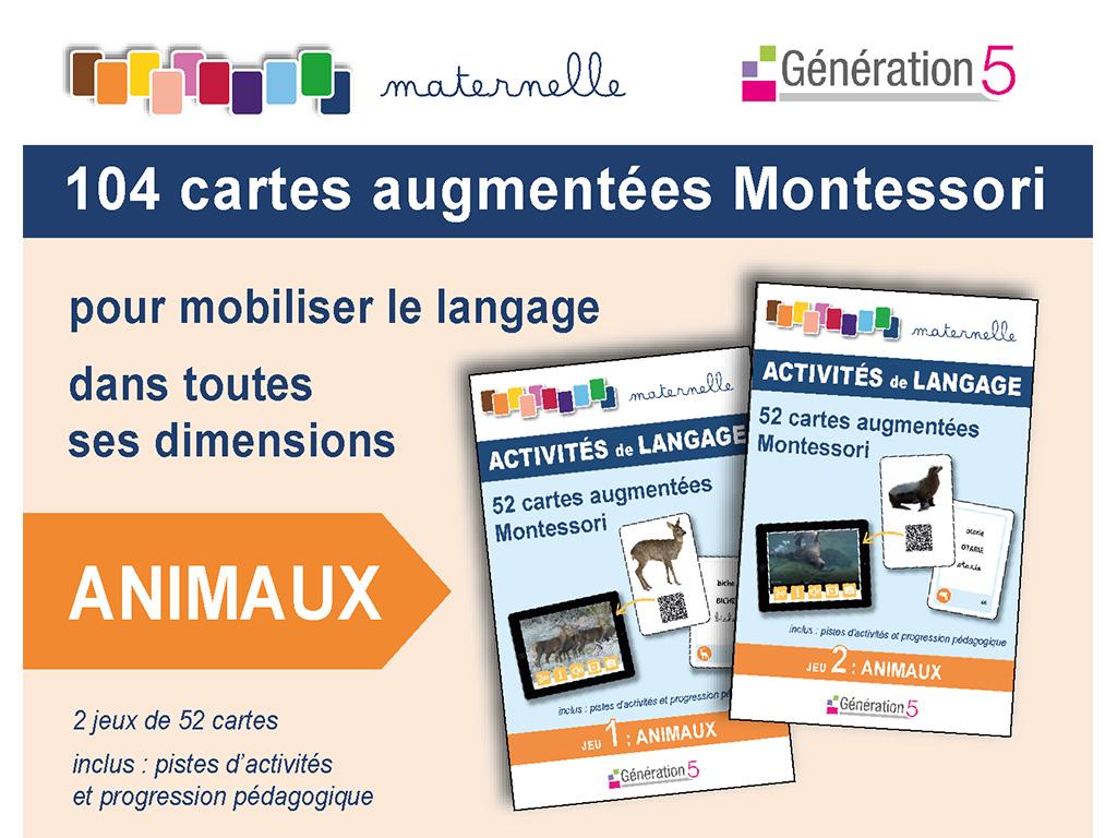 Cartes animaux vocabulaire en maternelle - Montessori