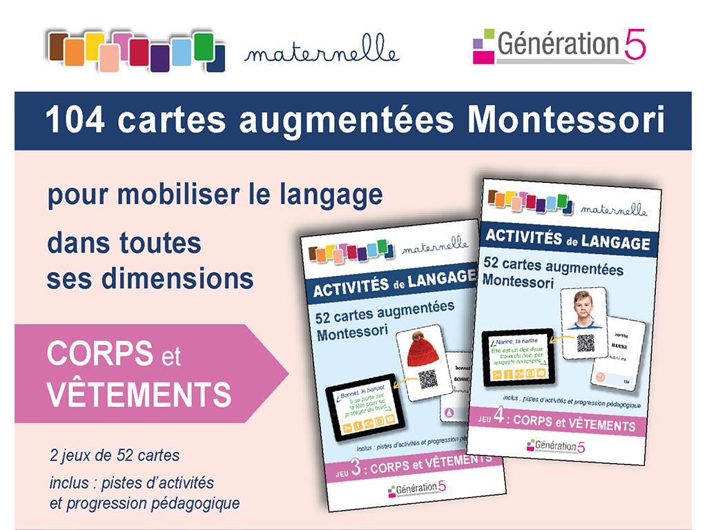 Cartes vocabulaire en maternelle - Montessori