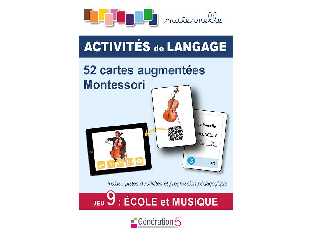 Cartes musique vocabulaire en maternelle - Montessori