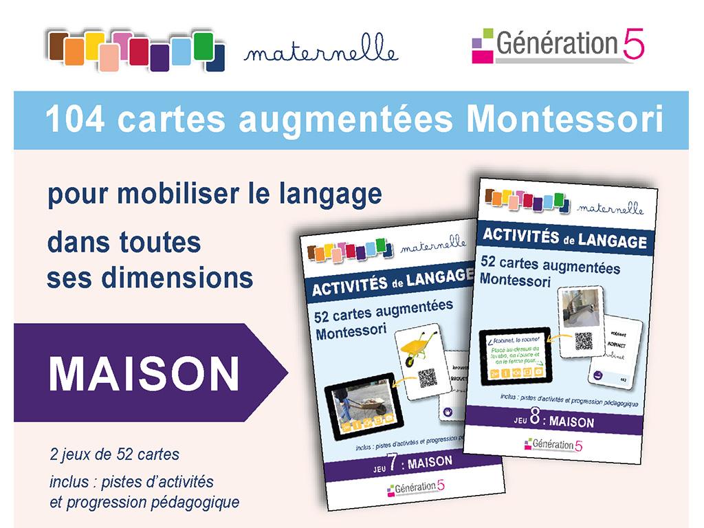 Cartes maison vocabulaire en maternelle - Montessori