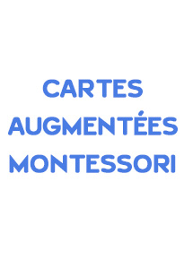 Jeux de cartes augmentées Montessori