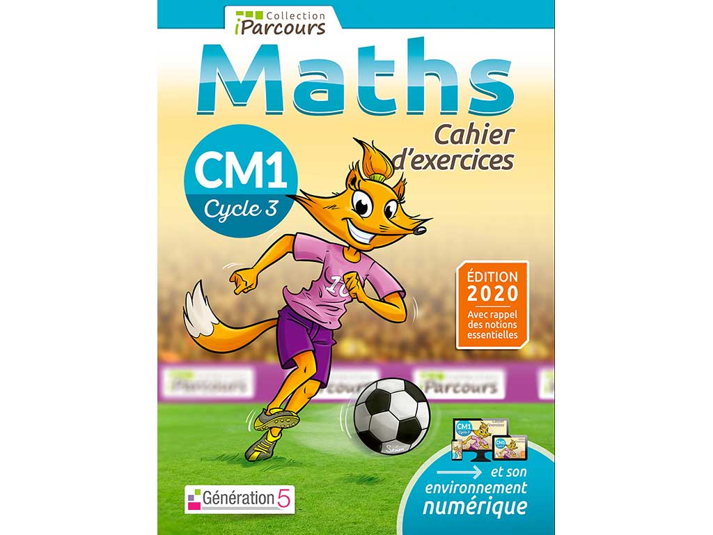 Cahier d'exercices iParcours maths CM1