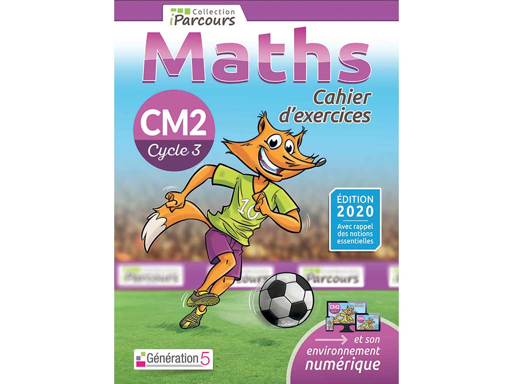 Cahier d'exercices iParcours maths CM2