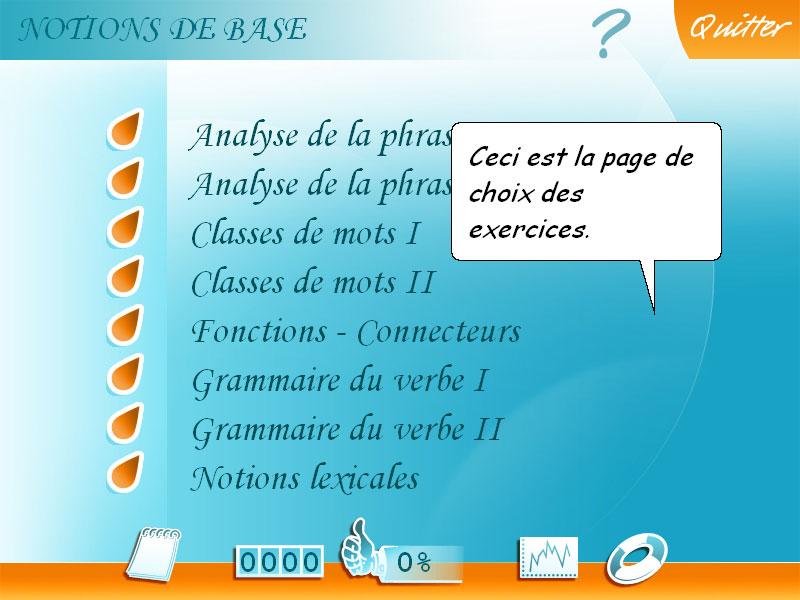 Logiciel exercice Français 4e