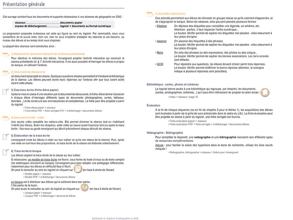 Géographie CM2 - Présentation