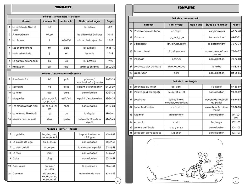 Ludo - Guide du maitre -sommaire