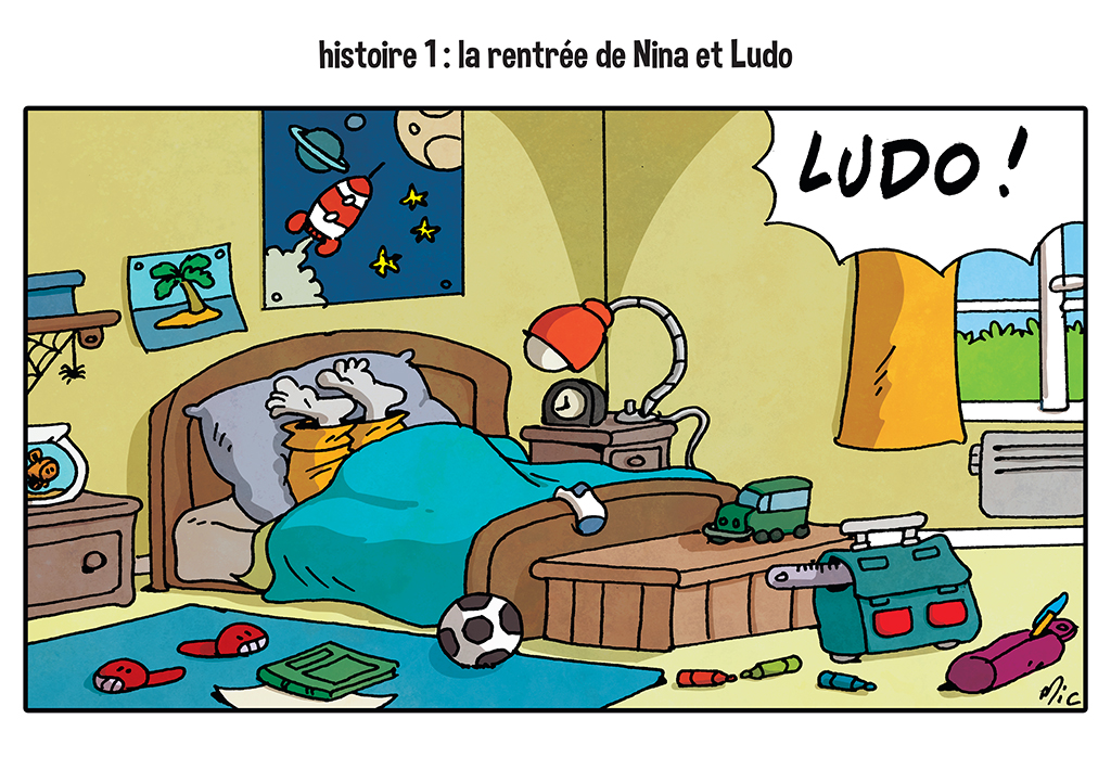 Ludo affiche illustration