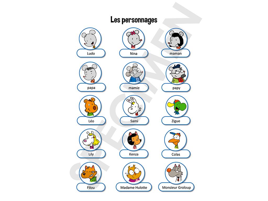 Manuel Ludo - Les personnages