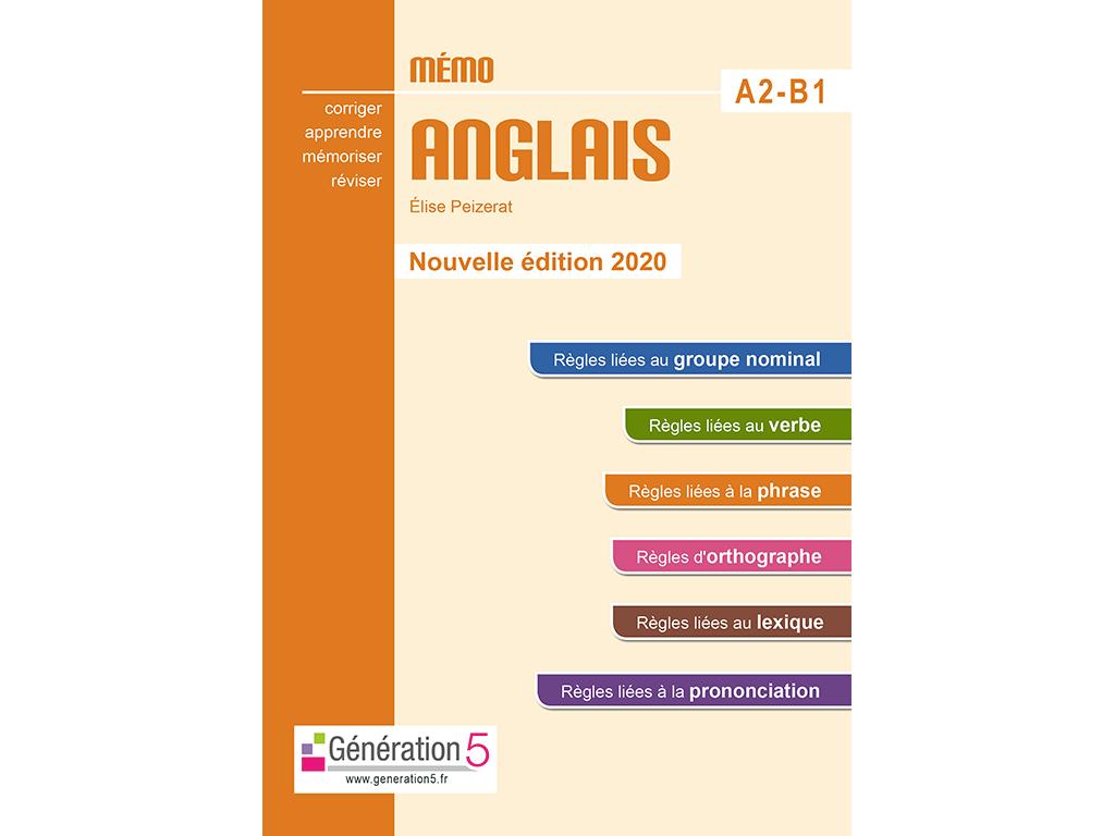 Mémo Anglais A2B1 - 2020