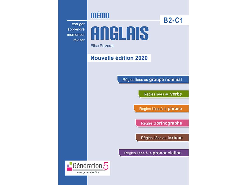 Mémo Anglais B2C1 - 2020